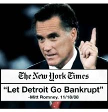 "Mitt Romney: ""Let Detroit Go Bankrupt"" - GraniteWord.com"