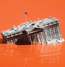 Trump White House Sinking