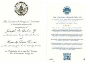 Biden Inaufural Invitation
