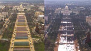 National Mall: Biden Inaugural, Trump Inaugural